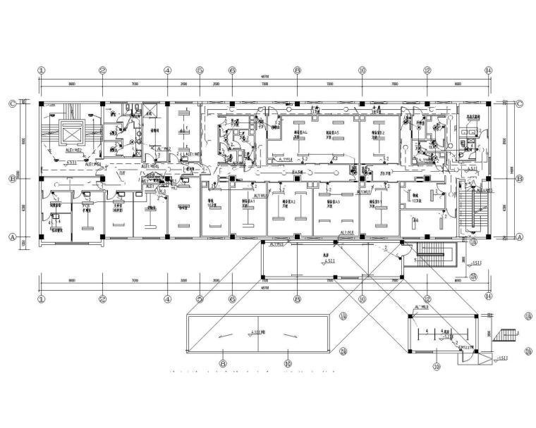 [北京]海军总医院生物治疗中心改造工程电气施工图(含控制原理)