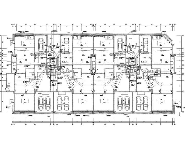 [四川]15万平住宅小区建筑群含商业电气施工图(大院之作)