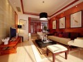 阳光中式客厅3D模型下载