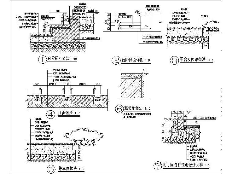 [河北]别墅样板房园林工程施工图(著名地产集团设计)