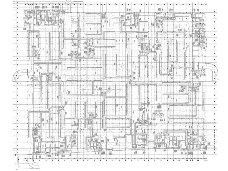 [四川]多栋商业兼医用建筑暖通空调全系统设计施工图(冷热源设计)