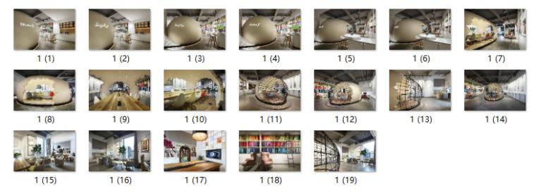 现代风格小巨蛋办公室设计CAD施工图(含实景图)_11