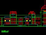 2层类似扇形1820平米幼儿园建筑方案图(无屋顶平面)