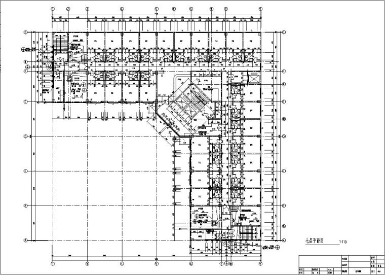 现代高层宾馆酒店建筑设计施工图CAD-现代多层酒店建筑设计平面图2