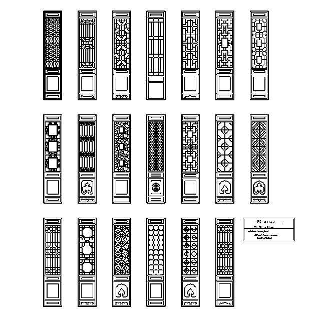 71套中式建筑设计常用构造详图及常用千种图块