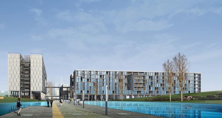 超高层现代风格未来广场项目建筑设计方案文本(含CAD)_2