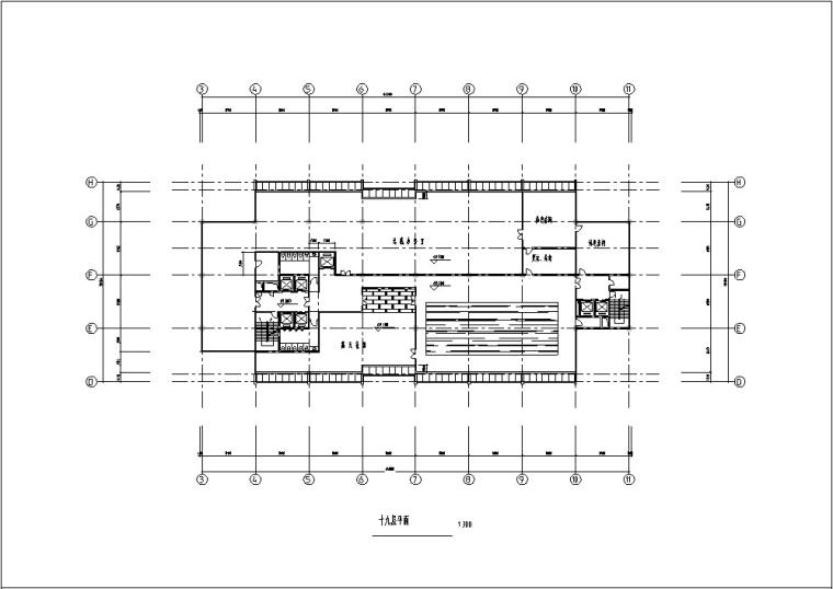 5套商务办公楼建筑设计施工图CAD-现代高层办公楼建筑设计平面图