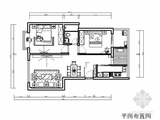 [厦门]温馨中式风格两居室装修图