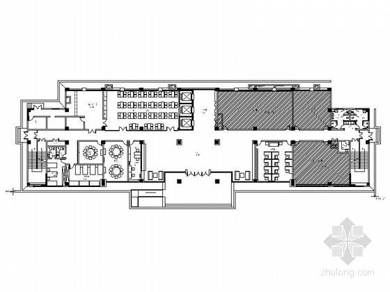 [重庆]现代风格监测中心大楼公共区室内装修施工图