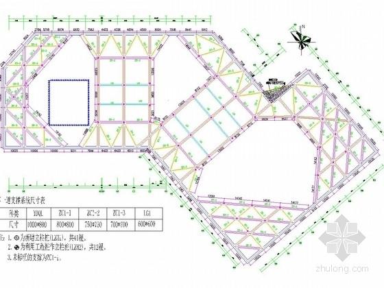 [浙江]10米深基坑桩撑支护及搅拌桩止水帷幕施工图