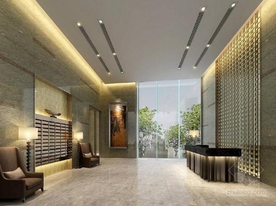 [深圳]花园洋房二期现代销售中心及样板房设计方案大堂效果图