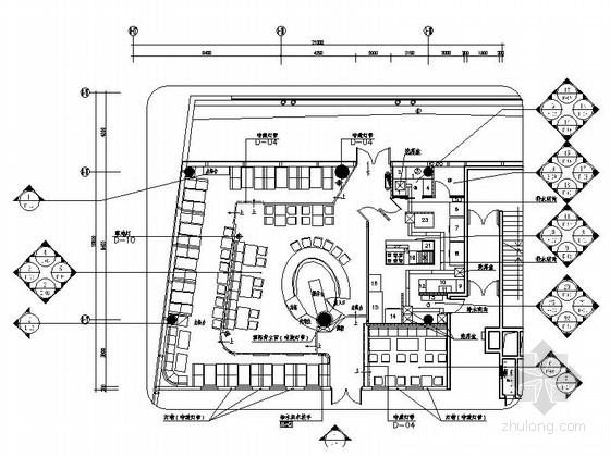 [原创]高档典雅西餐厅设计CAD装修图(含效果)