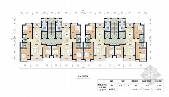 [陕西]artdeco风格住宅小区规划设计方案文本(知名设计院)-artdeco风格住宅小区规划平面图