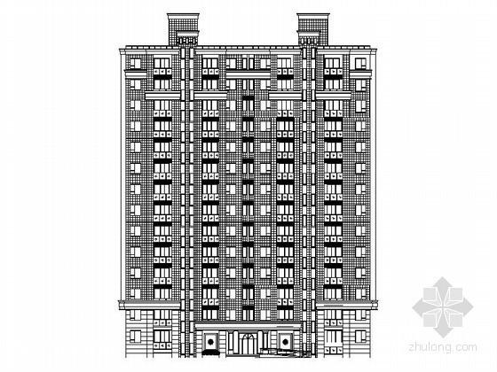 [江苏]泰州某十四层一梯二户板式住宅楼建筑施工图