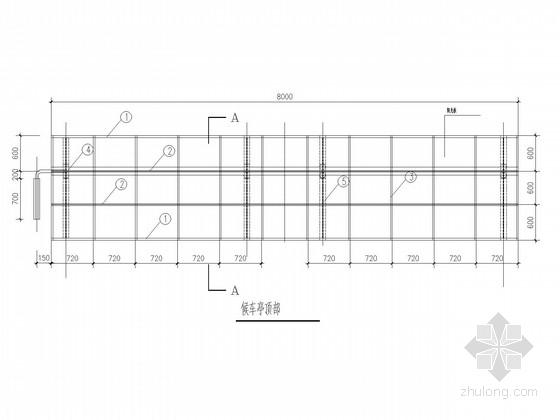 候车亭钢框架结构施工图