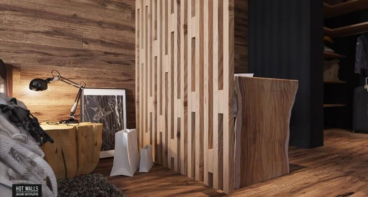 俄罗斯:木质与黑色调营造温暖酷炫的居家氛围_10