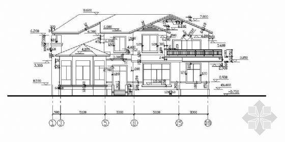 某度假区别墅建筑结构施工图纸