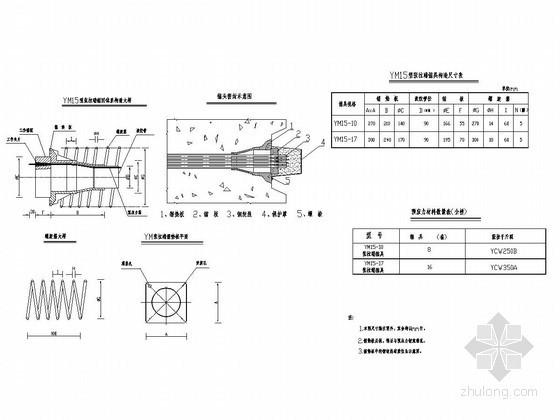分离式立交桥锚具构造图