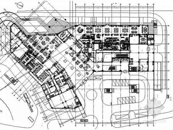 [上海]新区著名全球连锁新中式风格五星级酒店设计装修施工图(含效果)