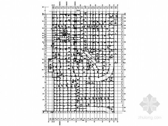 [福建]地下一层现浇框架结构地下车库结构施工图