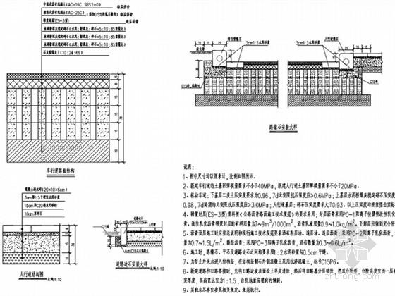 [河南]城市主干路道路工程施工图设计40张(设计精细)