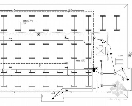 人防照明平面图资料下载-[安徽]厂房照明及防雷接地系统平面图