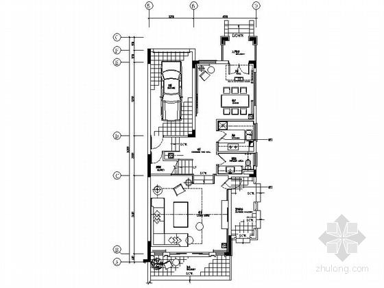 [广州]现代简约三层别墅样板间装修图(含效果)