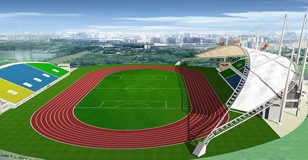[广东]学校塑胶面层运动场及周边设施维修工程预算书(含图纸)