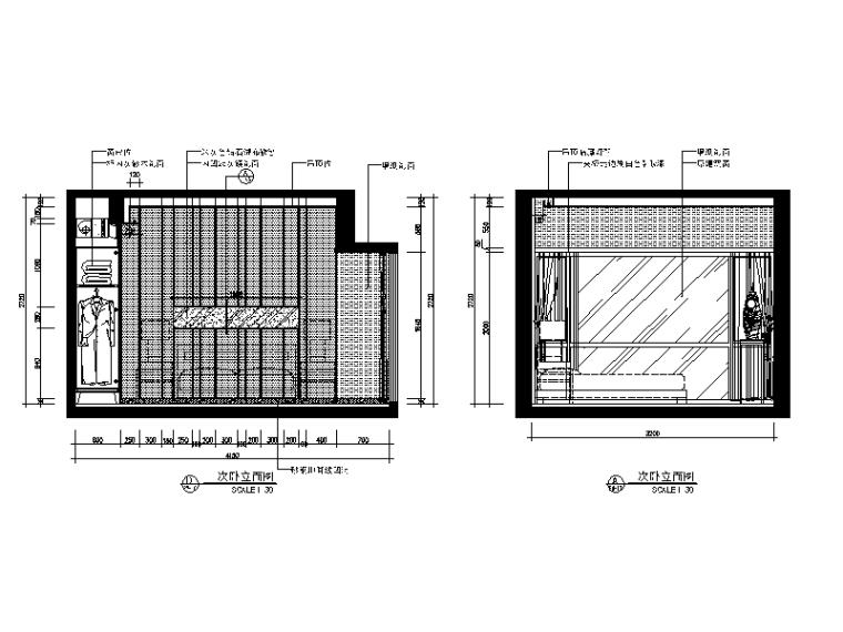 【广东】现代中式风格别墅设计CAD施工图(含效果图)_4
