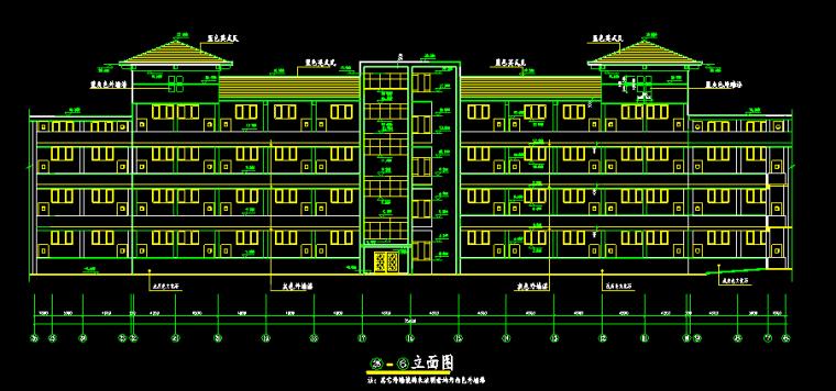 英式风格湖南工业大学艺术楼施工图