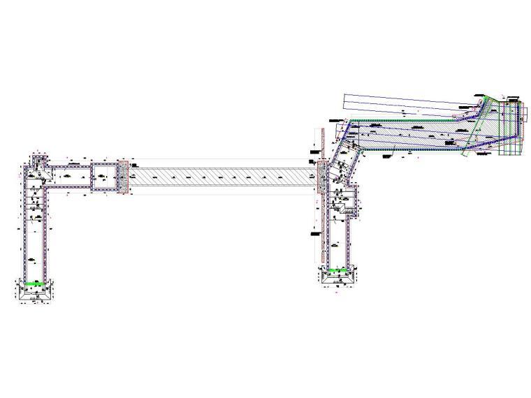 复杂地质条件20米深基坑开挖支护及降水施工图(咬合桩加内支撑)-围护结构平面布置图