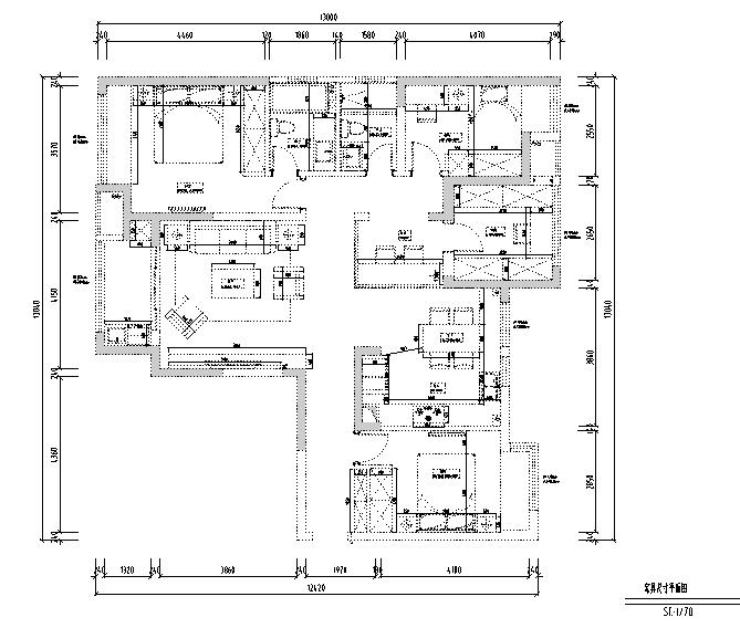 【四川】台湾风样板房设计施工图(附效果图)_4
