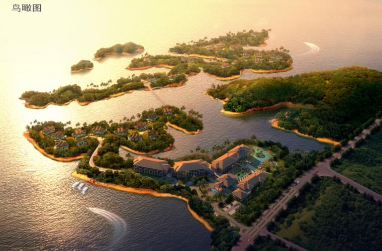[浙江]水上度假村景观规划设计方案-鸟瞰图