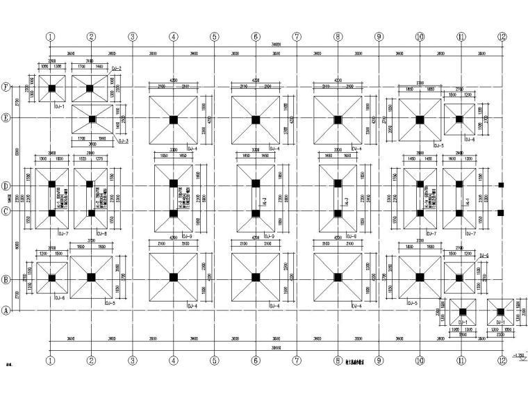 2栋四层框架结构中学宿舍楼结构施工图(含闷顶层)