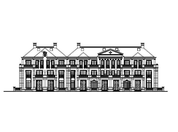 [浙江]四层砖混结构法式小花园住宅建筑施工图(含效果图)