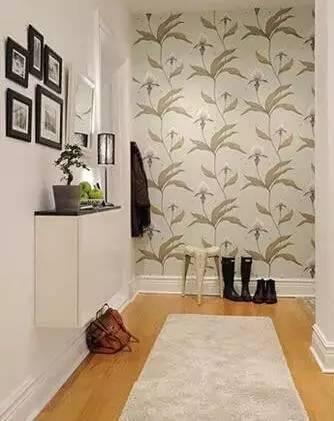 9款玄关壁纸装饰效果图!
