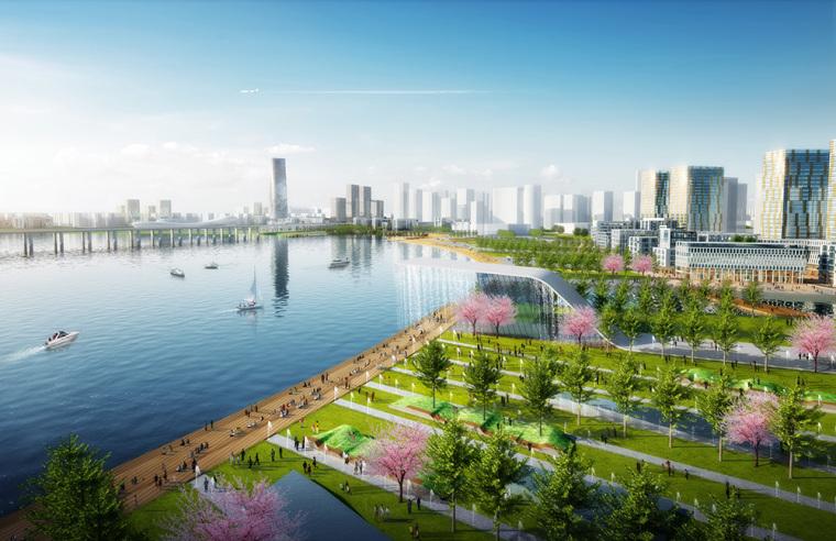 深圳宝安中心区滨海地带景观