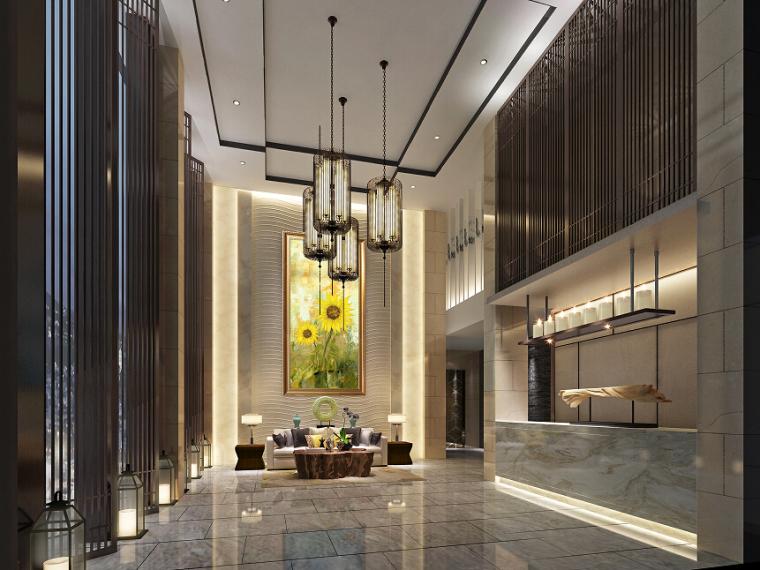 主题时尚酒店室内设计效果图(含3D模型,材质,光域网)