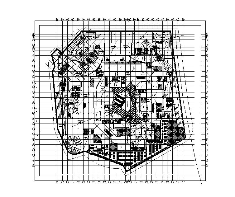 34万平商业办公楼强弱电电气施工图(电缆|变配电所负荷|防雷计算)-地下消防平面图