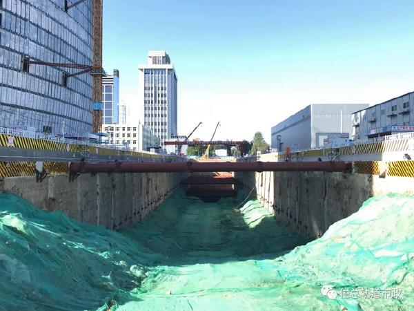 地铁12号线14标三元桥站正式进入主体结构施工