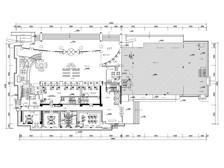 [扬州]某金融中心办公大楼室内装修施工图(附效果图+实景图)
