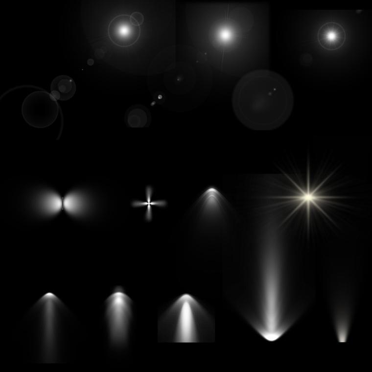 8套园林景观灯光PSD素材