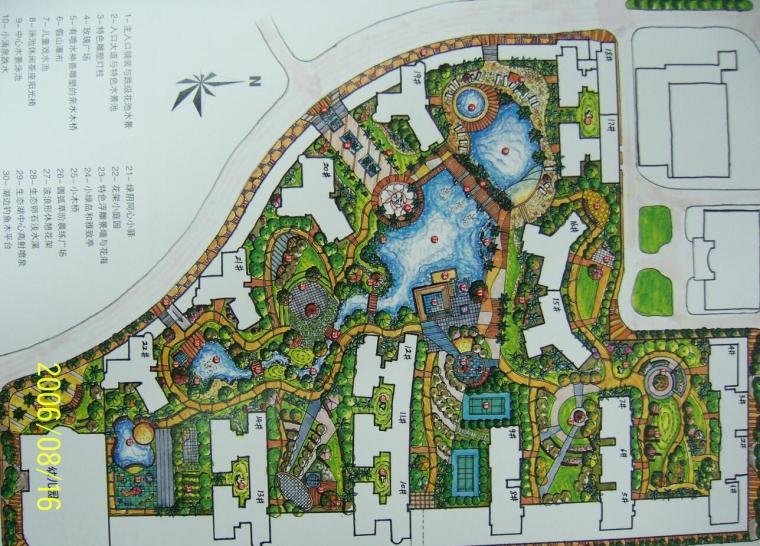 马克笔_居住环境景观设计优秀快题