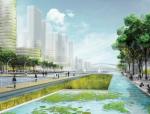 [广东]生态海绵城市滨海水城休闲城市景观规划设计方案