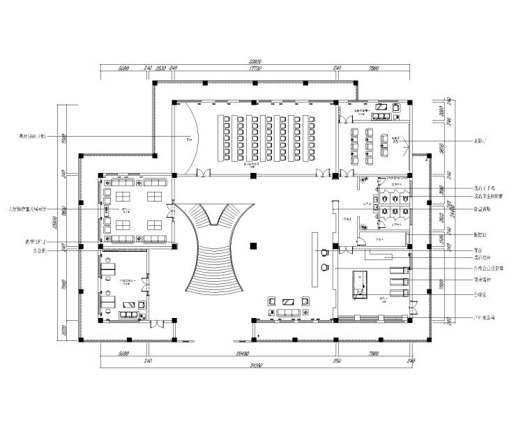 文腾集团总办公室装修设计施工图