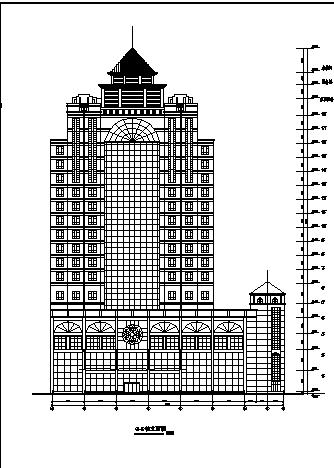 某十八层酒店施工图全套-含大样立面