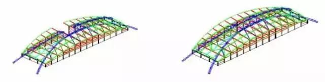 大跨度拱形钢结构安装施工工法_15