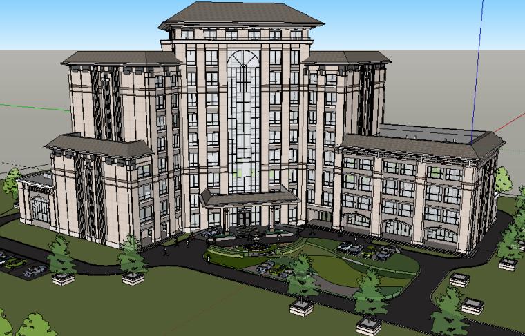 燕赵熙府酒店建筑模型设计(现代风格)