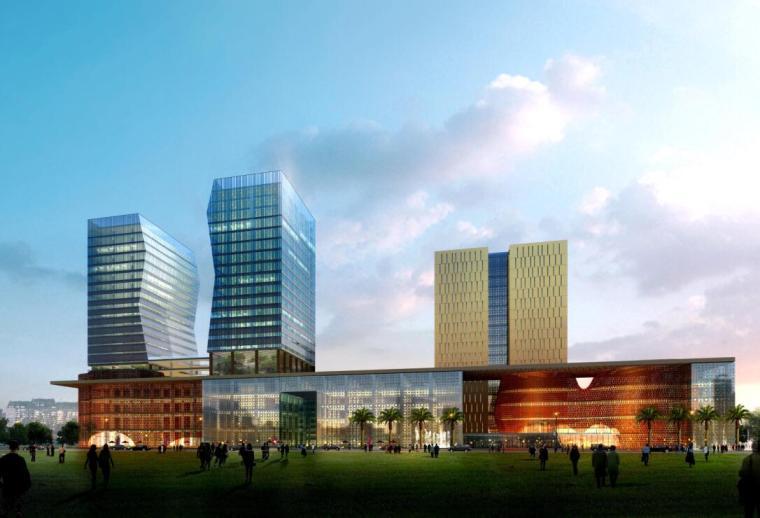 [广东]顺德置业广场规划建筑设计方案文本设计(PDF+78页)