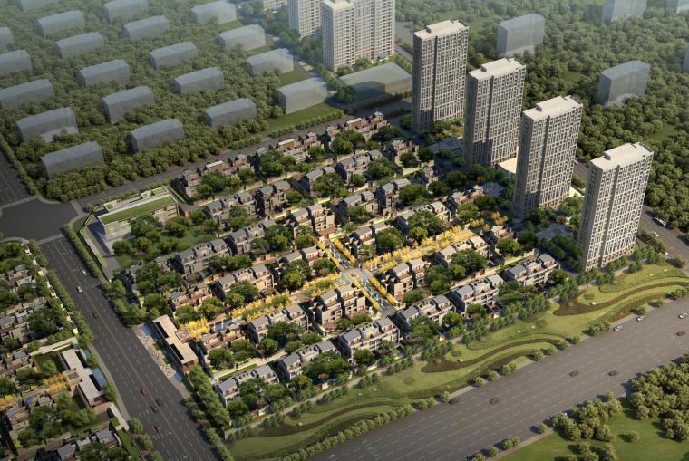 [河南]郑州美景东望新中式居住区建筑设计方案文本